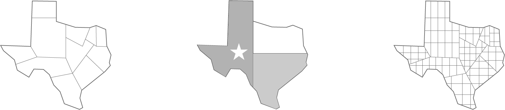 Representation of Tx carved into districts